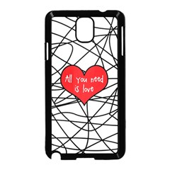 Love Abstract Heart Romance Shape Samsung Galaxy Note 3 Neo Hardshell Case (black)