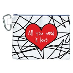 Love Abstract Heart Romance Shape Canvas Cosmetic Bag (xxl) by Nexatart