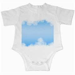 Sky Cloud Blue Texture Infant Creepers