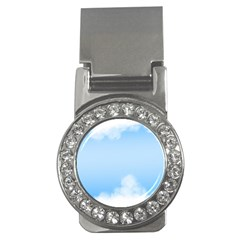 Sky Cloud Blue Texture Money Clips (cz)  by Nexatart