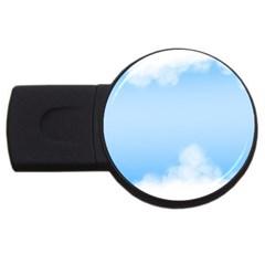 Sky Cloud Blue Texture Usb Flash Drive Round (2 Gb)
