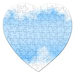 Sky Cloud Blue Texture Jigsaw Puzzle (heart) by Nexatart