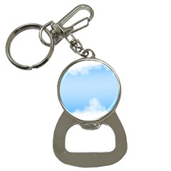 Sky Cloud Blue Texture Button Necklaces