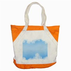 Sky Cloud Blue Texture Accent Tote Bag