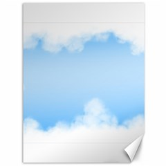 Sky Cloud Blue Texture Canvas 36  X 48