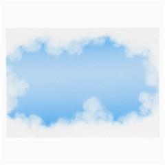 Sky Cloud Blue Texture Large Glasses Cloth (2 Side)