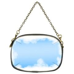Sky Cloud Blue Texture Chain Purses (two Sides)