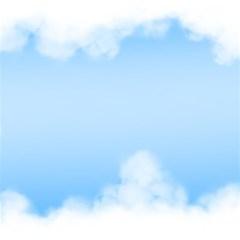 Sky Cloud Blue Texture Magic Photo Cubes