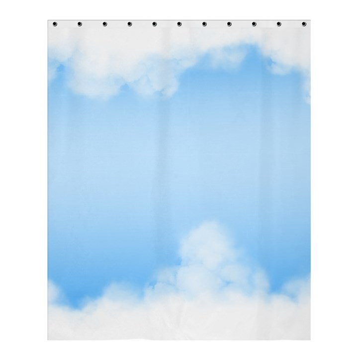 Sky Cloud Blue Texture Shower Curtain 60  x 72  (Medium)