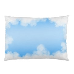 Sky Cloud Blue Texture Pillow Case (two Sides) by Nexatart