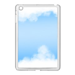Sky Cloud Blue Texture Apple Ipad Mini Case (white)