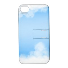 Sky Cloud Blue Texture Apple Iphone 4/4s Hardshell Case With Stand by Nexatart