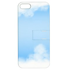 Sky Cloud Blue Texture Apple Iphone 5 Hardshell Case With Stand