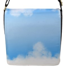 Sky Cloud Blue Texture Flap Messenger Bag (s) by Nexatart