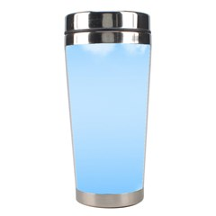 Sky Cloud Blue Texture Stainless Steel Travel Tumblers by Nexatart