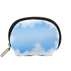 Sky Cloud Blue Texture Accessory Pouches (small)