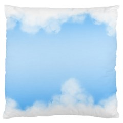 Sky Cloud Blue Texture Large Flano Cushion Case (one Side)
