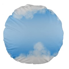 Sky Cloud Blue Texture Large 18  Premium Flano Round Cushions