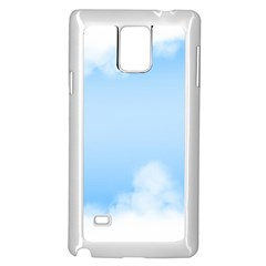 Sky Cloud Blue Texture Samsung Galaxy Note 4 Case (white) by Nexatart