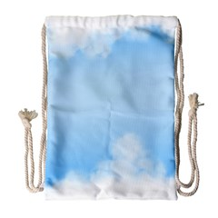 Sky Cloud Blue Texture Drawstring Bag (large) by Nexatart