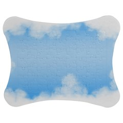 Sky Cloud Blue Texture Jigsaw Puzzle Photo Stand (bow)