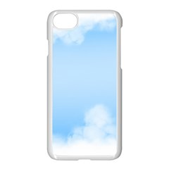Sky Cloud Blue Texture Apple Iphone 7 Seamless Case (white)