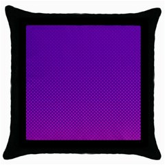 Halftone Background Pattern Purple Throw Pillow Case (black)