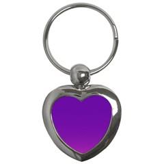 Halftone Background Pattern Purple Key Chains (heart)
