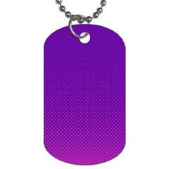 Halftone Background Pattern Purple Dog Tag (two Sides) by Nexatart