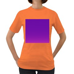 Halftone Background Pattern Purple Women s Dark T Shirt