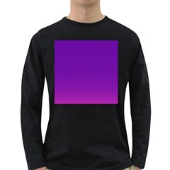 Halftone Background Pattern Purple Long Sleeve Dark T Shirts