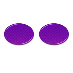 Halftone Background Pattern Purple Cufflinks (oval)