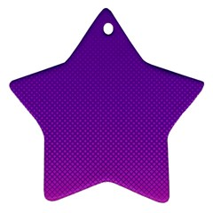 Halftone Background Pattern Purple Star Ornament (two Sides)