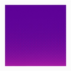 Halftone Background Pattern Purple Medium Glasses Cloth (2 Side)