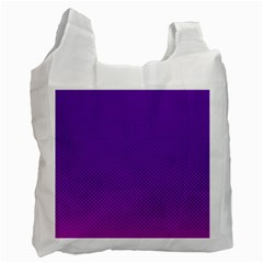 Halftone Background Pattern Purple Recycle Bag (one Side)