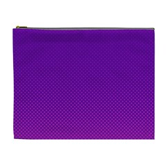 Halftone Background Pattern Purple Cosmetic Bag (xl)