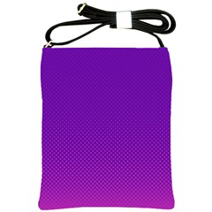 Halftone Background Pattern Purple Shoulder Sling Bags by Nexatart