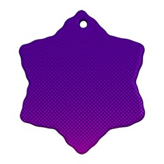 Halftone Background Pattern Purple Snowflake Ornament (two Sides) by Nexatart