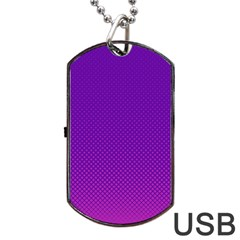 Halftone Background Pattern Purple Dog Tag Usb Flash (two Sides)