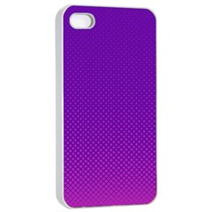 Halftone Background Pattern Purple Apple Iphone 4/4s Seamless Case (white)
