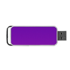 Halftone Background Pattern Purple Portable Usb Flash (two Sides)