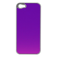 Halftone Background Pattern Purple Apple Iphone 5 Case (silver)