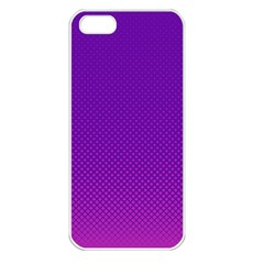 Halftone Background Pattern Purple Apple Iphone 5 Seamless Case (white)