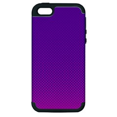 Halftone Background Pattern Purple Apple Iphone 5 Hardshell Case (pc+silicone) by Nexatart