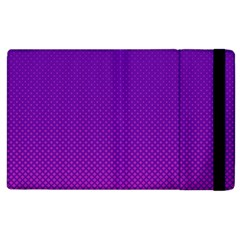 Halftone Background Pattern Purple Apple Ipad 2 Flip Case by Nexatart