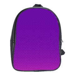 Halftone Background Pattern Purple School Bag (xl) by Nexatart