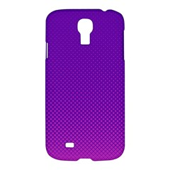 Halftone Background Pattern Purple Samsung Galaxy S4 I9500/i9505 Hardshell Case by Nexatart
