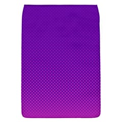 Halftone Background Pattern Purple Flap Covers (s)