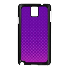 Halftone Background Pattern Purple Samsung Galaxy Note 3 N9005 Case (black)