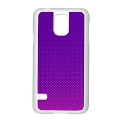 Halftone Background Pattern Purple Samsung Galaxy S5 Case (white)